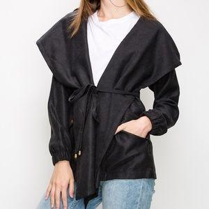 Jackets & Blazers - Black Cargo Jacket